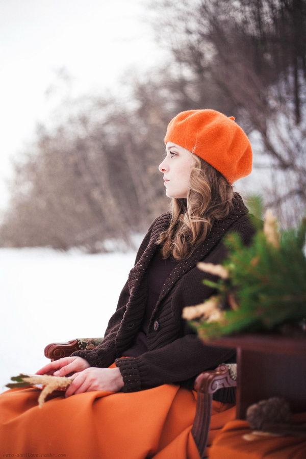 образ для фотосессии зимой