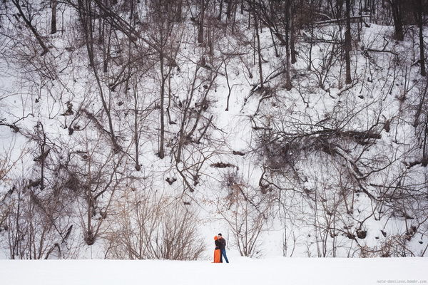 Зимняя фотосессия на снегу