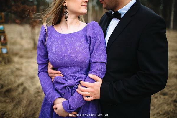 фотосессия в фиолетовом цвете