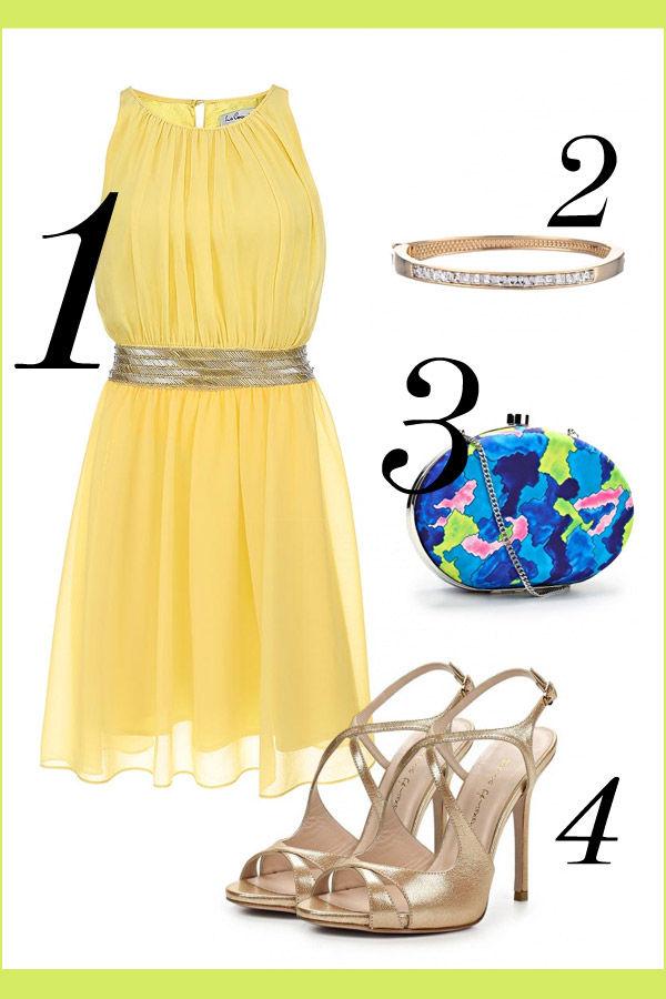 желтое платье с золотом