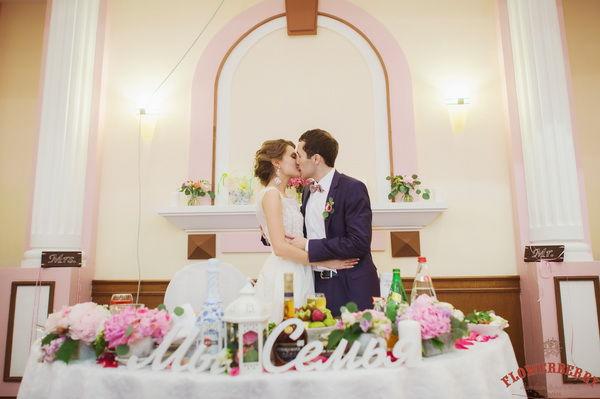 свадьба в розовых тонах