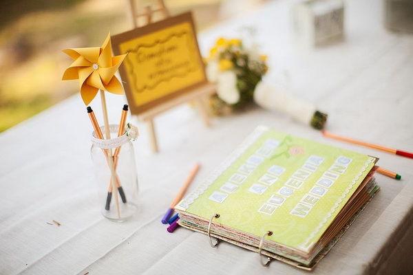 свадьба желтом и зеленом