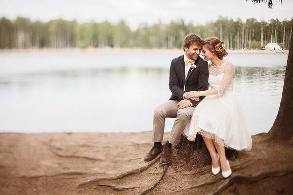 свадебная фотосессия на озере