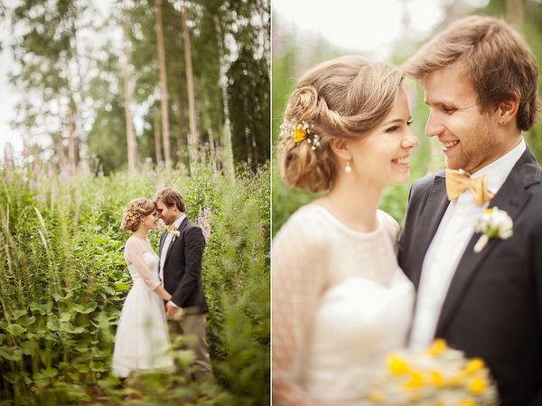 свадьба в желто зеленом цвете