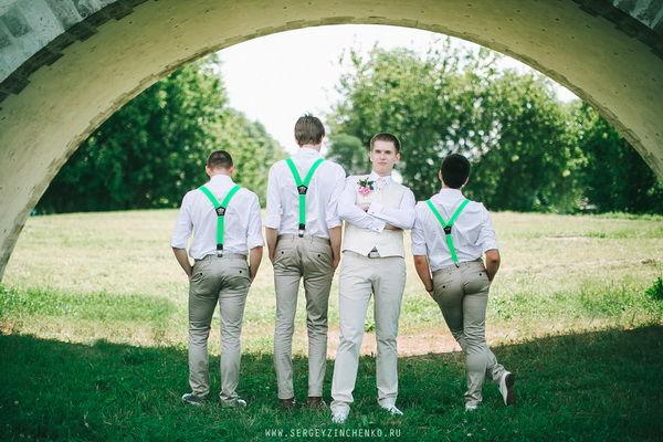 свадьба в зеленых оттенках