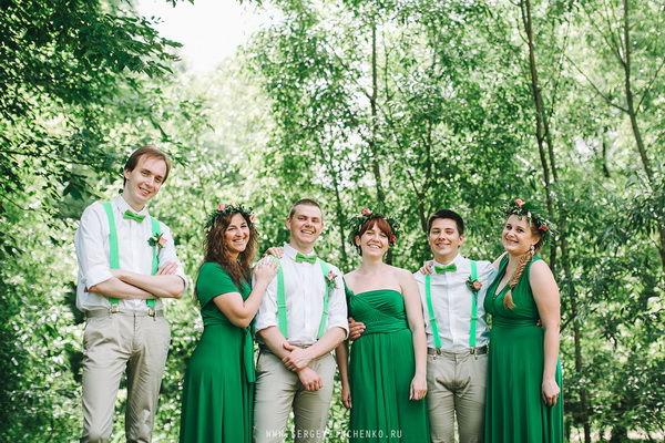 подружки невесты и друзья жениха