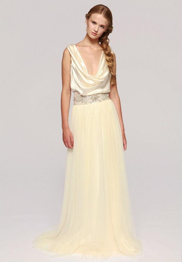ванильные свадебные платья
