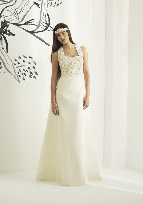 свадебные платья с крупным кружевом