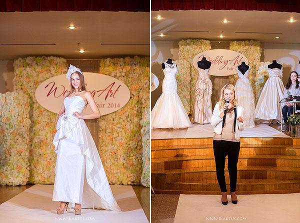 показ свадебных платьев на wedding art fair 2014