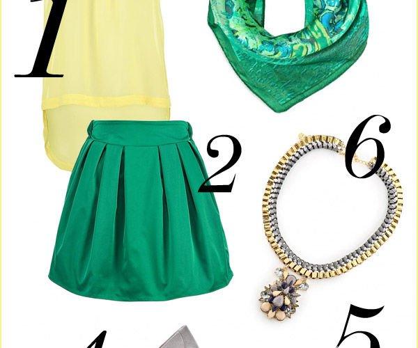 зелено-желтая гамма