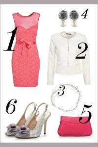 розовый и белый в классическом образе