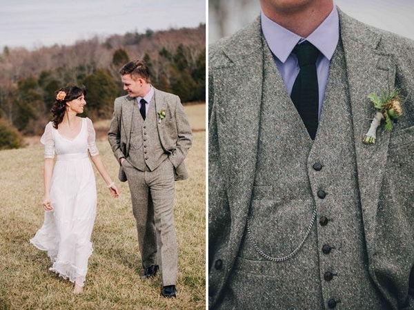 жених в английском костюме