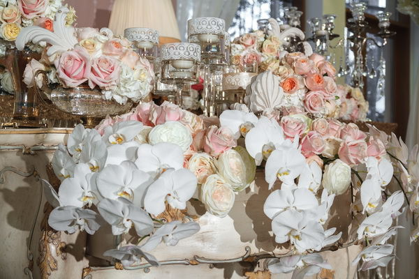 оформление свадьбы живыми цветыми
