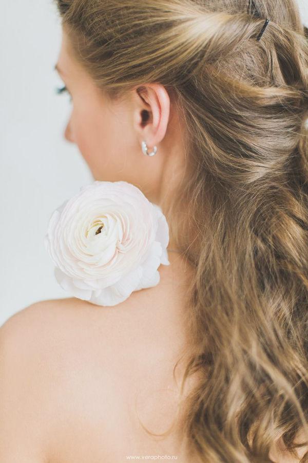 прическа невесты на длинные волосы