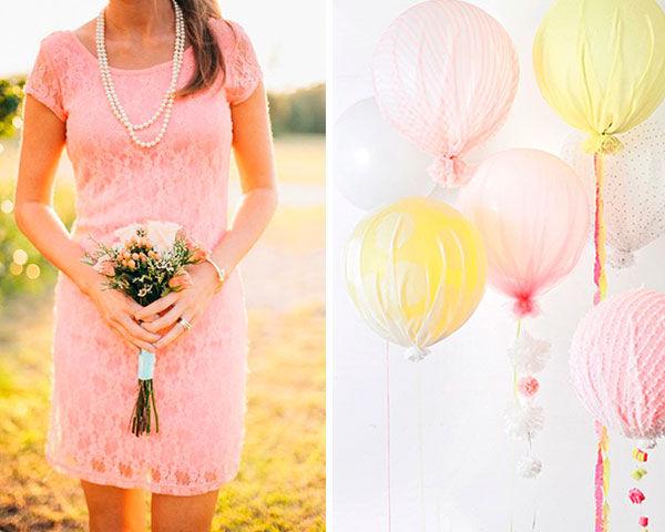 свадьба в розово желтом цвете