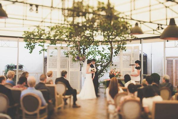 свадебная церемония в ресторане