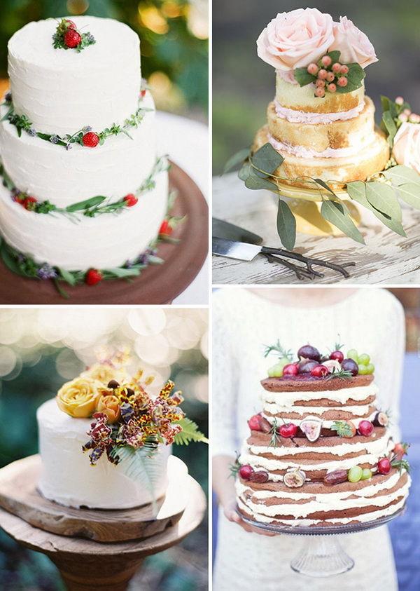 свадебные торты рустик