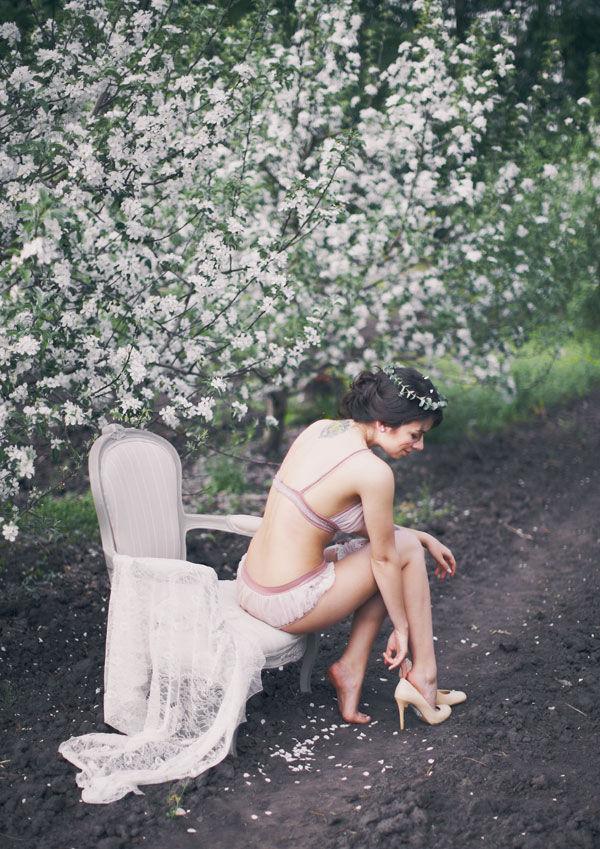 фотосессия в весеннем саду