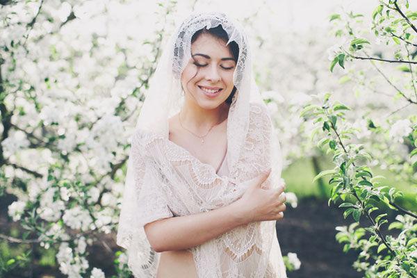 весенняя фотосессия невесты