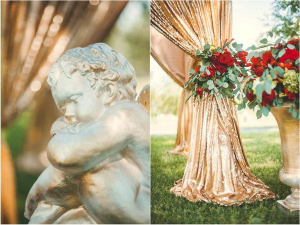 красный с золотым на свадьбе
