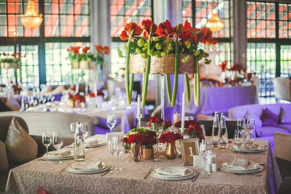 свадьба в золотом и красном цвете