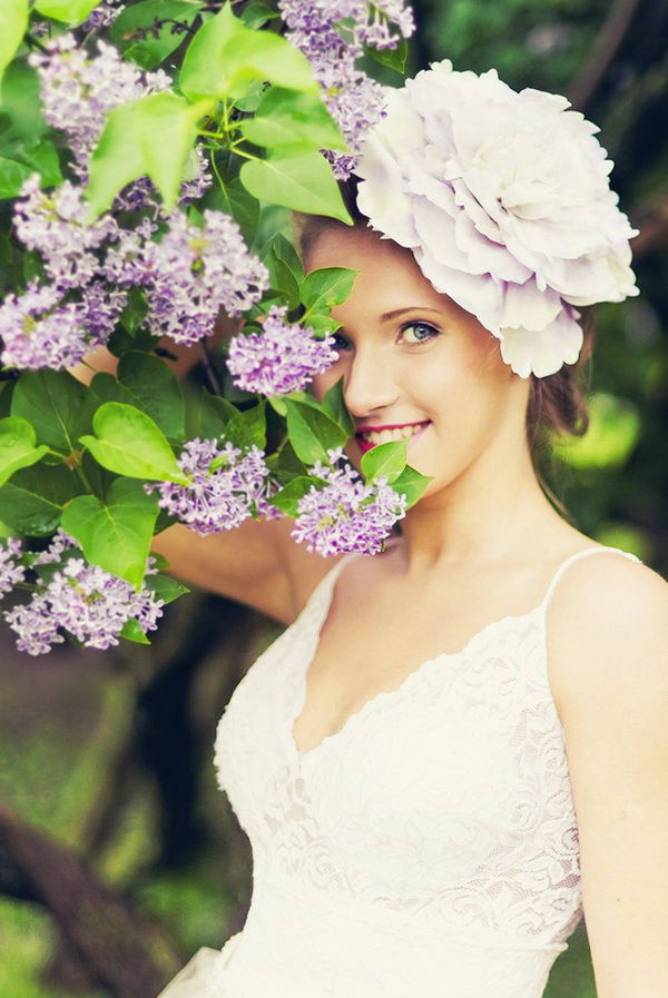 весенний образ невесты