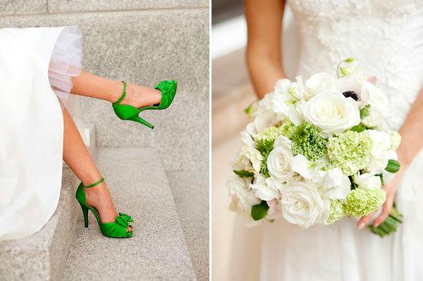 свадьба в бело зеленом цвете
