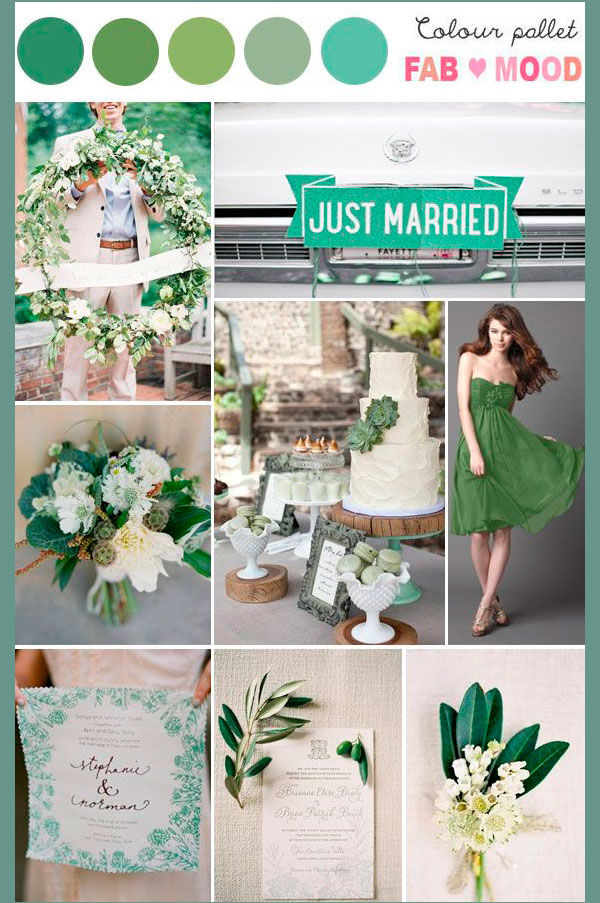 зеленый цвет на свадьбе