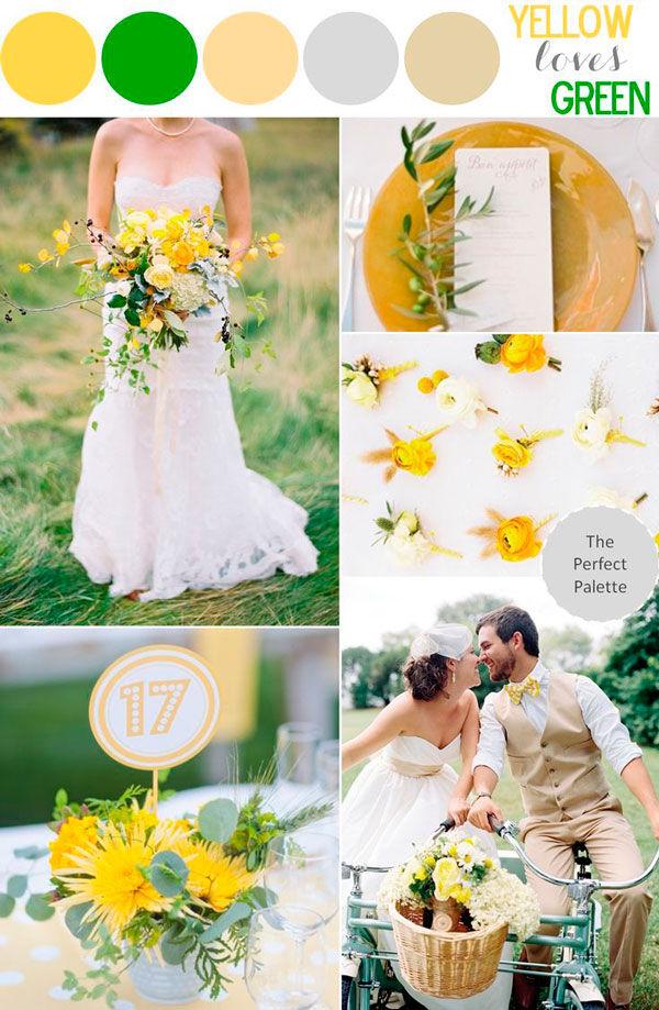 Желто-зеленая свадьба