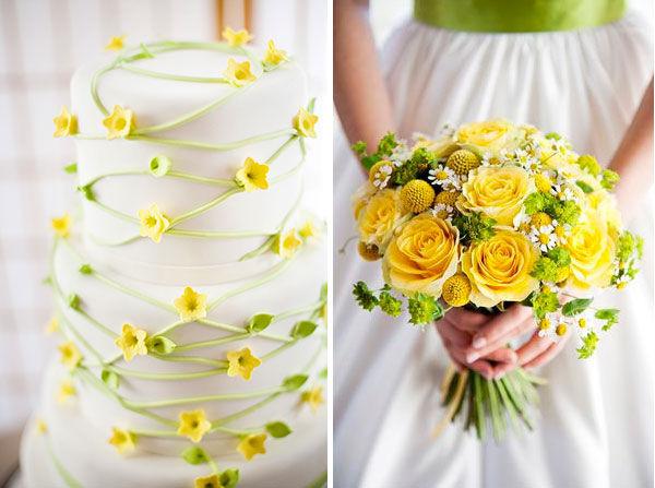 желто зеленая свадьба