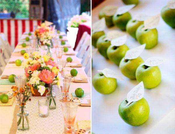свадьба зеленые яблоки