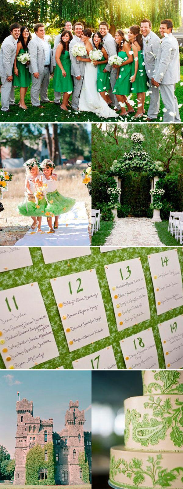 Свадьба в зеленом цвете