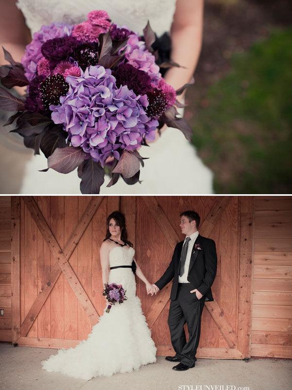 свадьба в фиолетовом стиле
