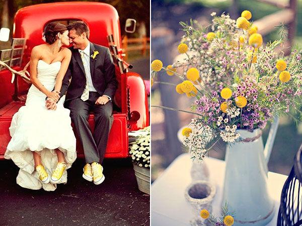желто фиолетовая свадьба