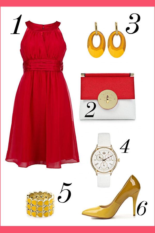 Красное платье подружки невесты