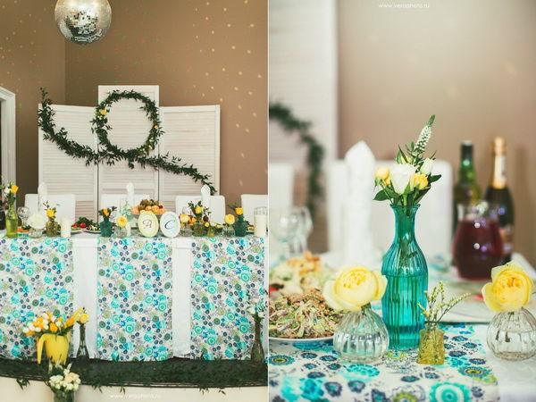 мятно-желтая свадьба