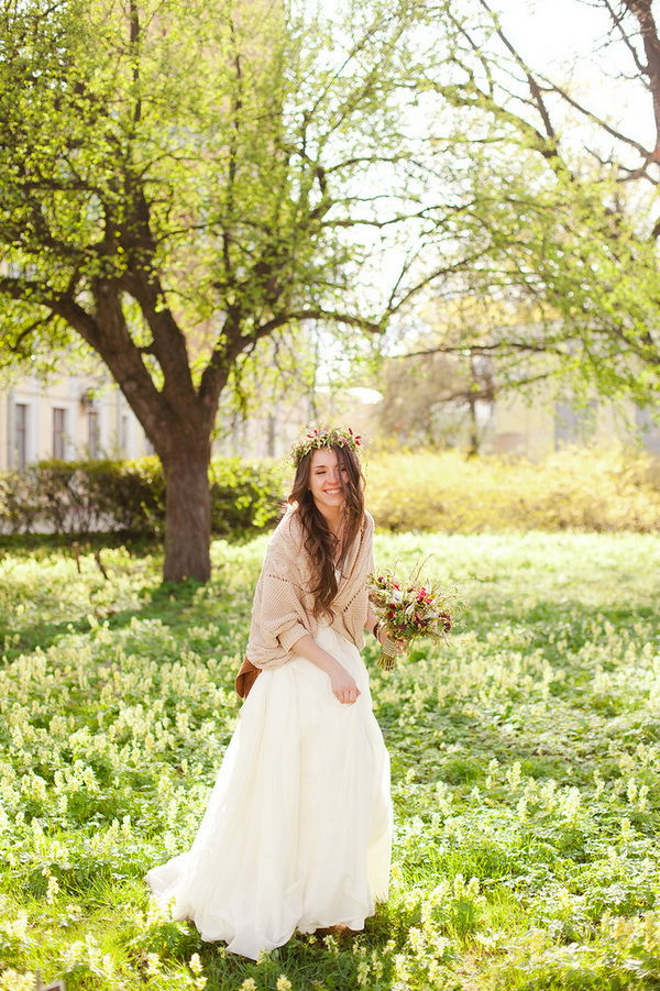 невеста в стиле рустик