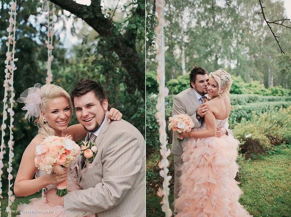 свадьба в персиковом цвете фото