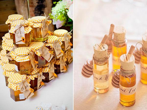мед в подарок гостям на свадьбе