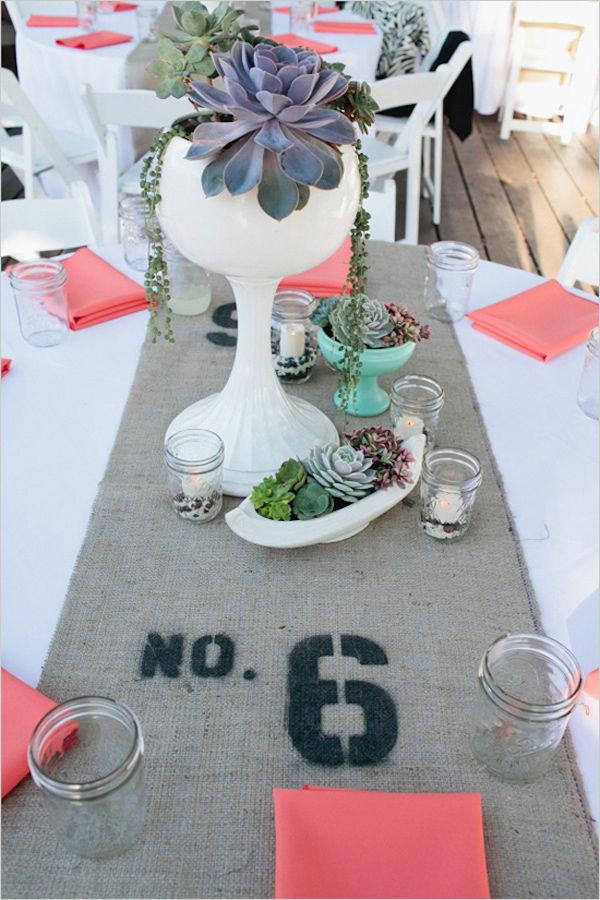 суккуленты на свадьбе