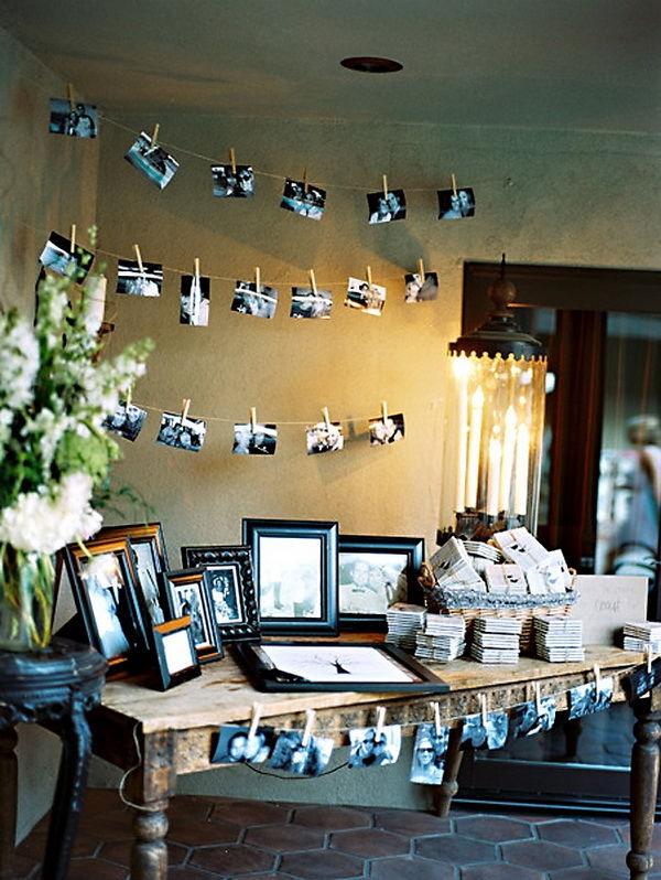 полароид на свадьбе