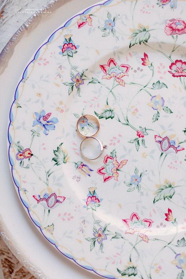 цветочный принт в оформлении свадьбы