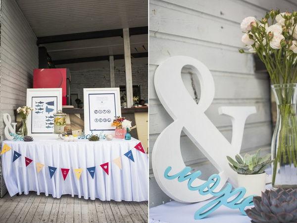 свадьба в морском стиле оформление