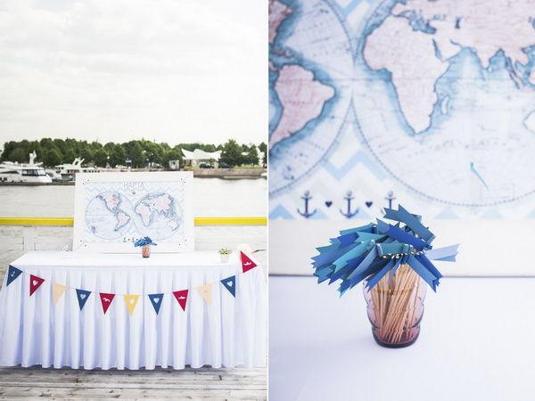 свадьба в стиле моря