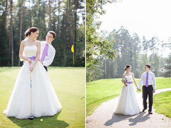 гольф на свадьбе