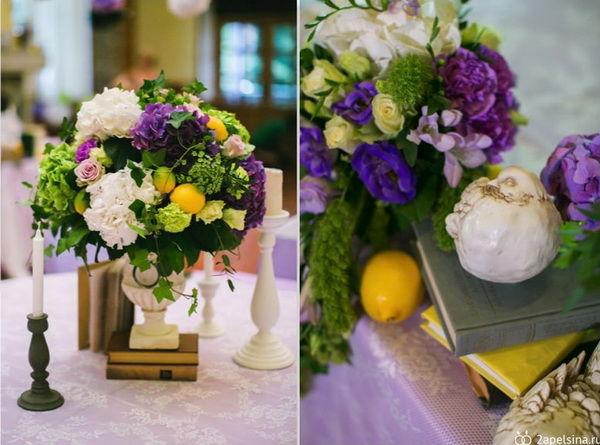 цветы в свадебное декоре