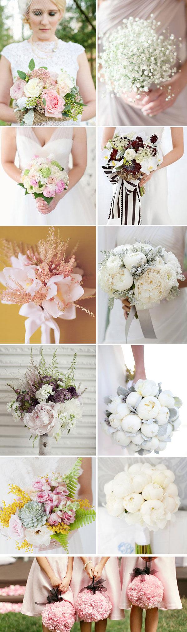 нежные букеты невесты