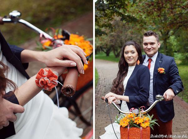 осенняя свадьба фото