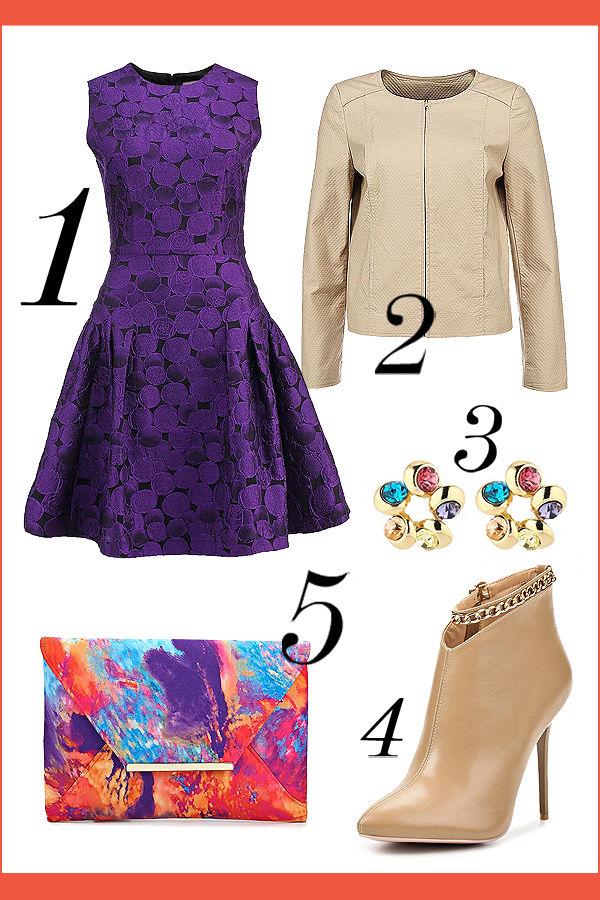 фиолетовые платья подружек невесты