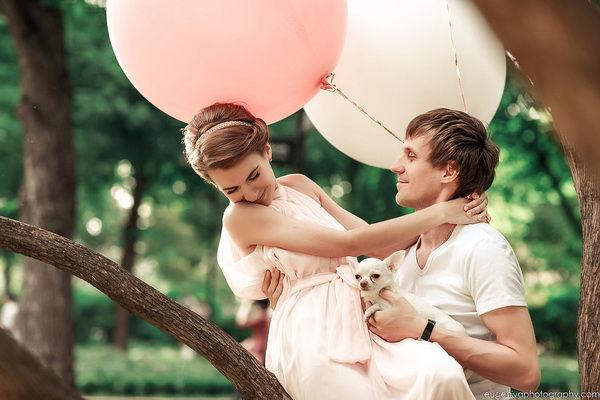 love story фотосессия летом